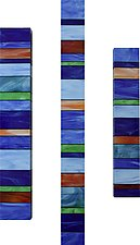Harmony Totem Trio by Gerald Davidson (Art Glass Wall Sculpture)