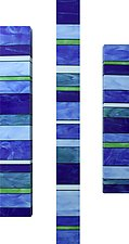 Ocean Totem Trio by Gerald Davidson (Art Glass Wall Sculpture)