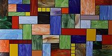 Patchwork III by Gerald Davidson (Art Glass Wall Sculpture)