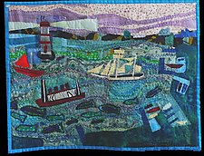 Harbor Grace NFLD by Pamela Allen (Fiber Wall Hanging)