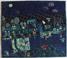 Dancing in the Moonlight by Pamela Allen (Fiber Wall Hanging)