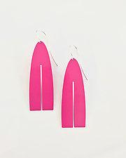 Pink Long Slot Earrings by Melissa Stiles (Steel Earrings)