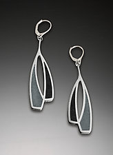 Lasso Earrings by Melissa Stiles (Steel & Resin Earrings)