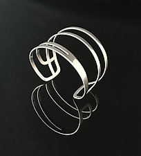 Swoop Cuff in Chrome by Melissa Stiles (Steel Bracelet)