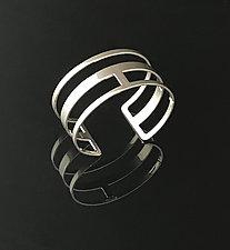 Linked Cuff Bracelet in Chrome by Melissa Stiles (Steel Bracelet)