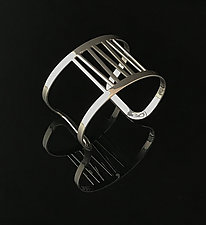 Grass Cuff Bracelet in Chrome by Melissa Stiles (Steel Bracelet)