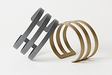 Band Cuff Bracelets by Melissa Stiles (Steel Bracelet)