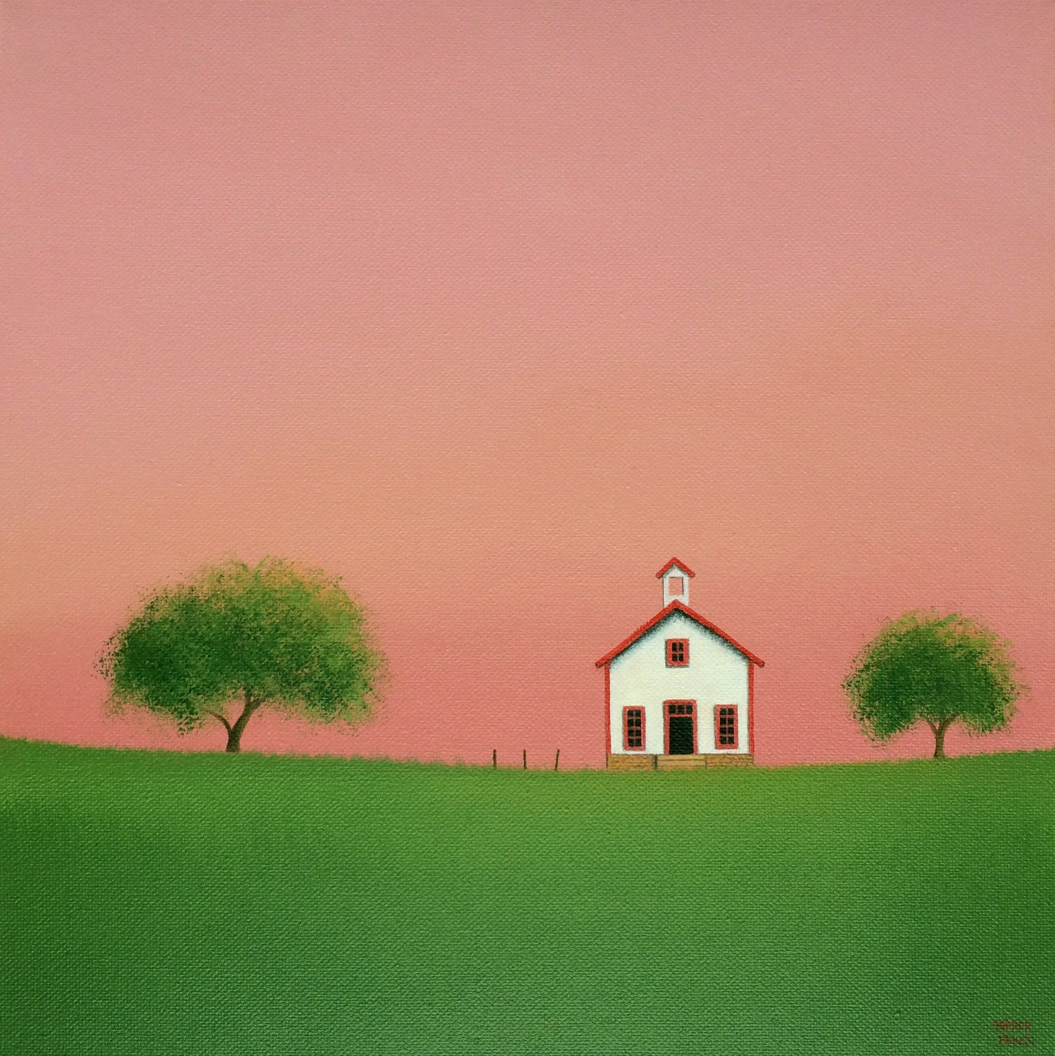Little White Schoolhouse By Sharon France Acrylic