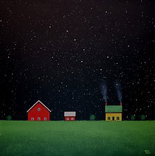Under a Night Sky by Sharon France (Acrylic Painting)