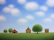 Stone House Farm by Sharon France (Acrylic Painting)