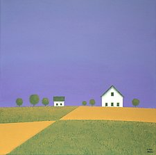 The Patchwork of the Fields by Sharon France (Acrylic Painting)