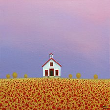 The Old Country Schoolhouse by Sharon France (Acrylic Painting)