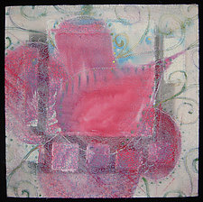 Crimson Little Flower 3 by Natalya Khorover Aikens (Fiber Wall Hanging)