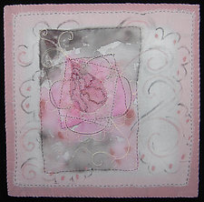 Crimson Little Flower 7 by Natalya Khorover Aikens (Fiber Wall Hanging)
