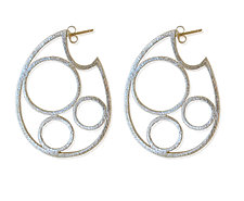 Circle Hoops Post Earring by Susan Crow (Silver Earrings)