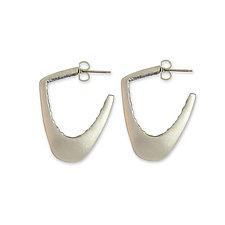 Inside Post Hoop Earrings by Susan Crow (Silver Earrings)