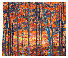 Evening Embers by Linda Beach (Fiber Wall Hanging)