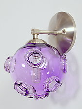 Amethyst Meteor Pod Wall Sconce by Rebecca Zhukov (Art Glass Wall Sconce)