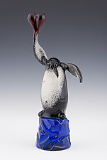 Tribute Penguin by Paul Labrie (Art Glass Sculpture)