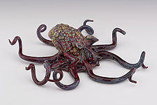 Octopus Sculpture by Paul Labrie (Art Glass Sculpture)