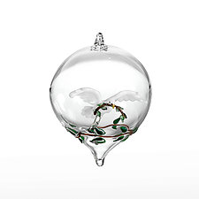 Peace Dove by Steve  Scherer (Art Glass Ornament)