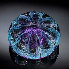 Sea Urchin Paperweight in Purple by Jacob Pfeifer (Art Glass Paperweight)