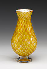 Vintage Series Teardrop Vase on Foot by Jacob Pfeifer (Art Glass Vase)