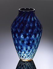 Treasure Series Pineapple Pattern Reverse Amphora Vase by Jacob Pfeifer (Art Glass Vase)