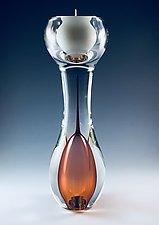 Swedish Candle Holder by Jacob Pfeifer (Art Glass Candleholder)