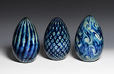 Treasure Series Dragon Eggs by Jacob Pfeifer (Art Glass Sculpture)