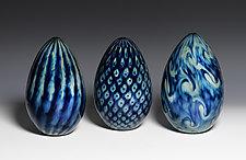 Treasure Series Dragon Eggs by Jacob Pfeifer (Art Glass Sculpture)