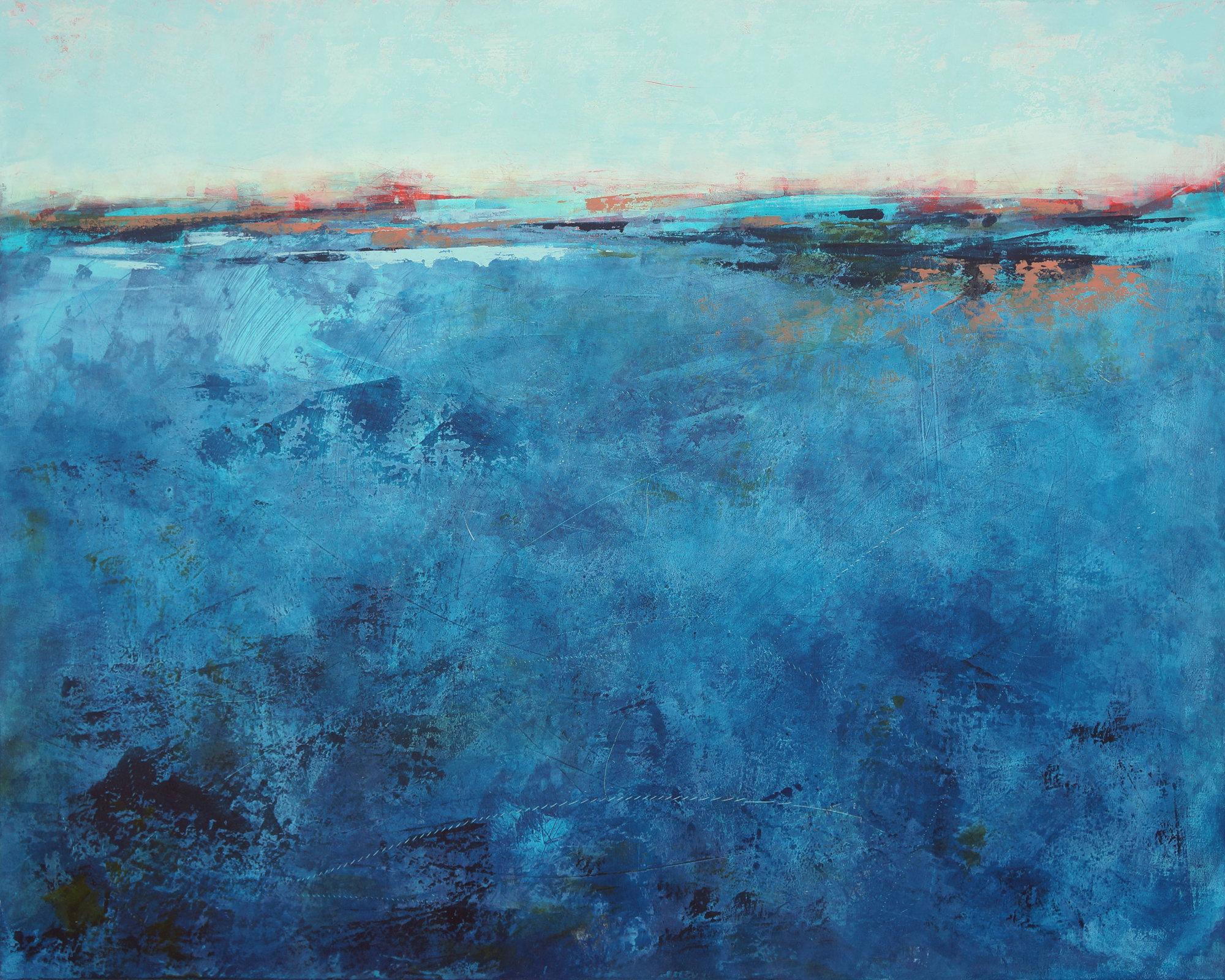Lapis Rhythms By Victoria Primicias Oil Painting