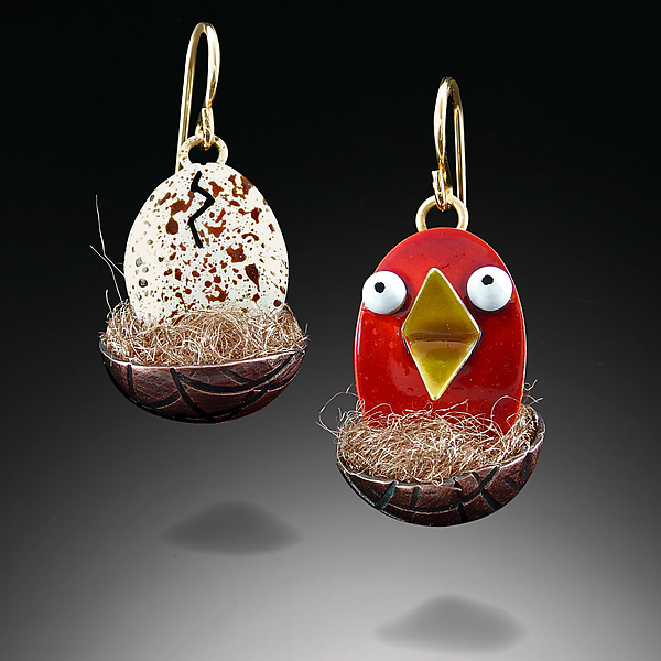 Red Hatchling Earrings