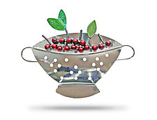 Bowl Of Cherries Pin by Lisa and Scott  Cylinder (Metal Pin)