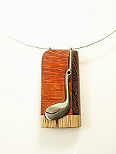 KeyWee Deluxe Necklace 1 by Lisa and Scott  Cylinder (Mixed-Media Necklace)