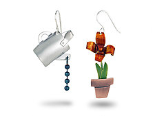 Watering Can Earrings by Lisa and Scott  Cylinder (Metal Earrings)
