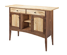 Spalted Maple Console Cabinet by Tom Dumke (Wood Console Cabinet)