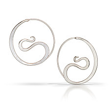 Cradle Hoops by Susan Panciera (Silver Earrings)
