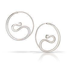 Cradle Hoops by Susan Panciera (Silver Earrings)