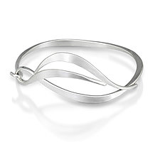 Forged Leaf Bracelet by Susan Panciera (Silver Bracelet)