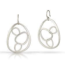 4 Nesting Stones Earrings by Susan Panciera (Silver Earrings)