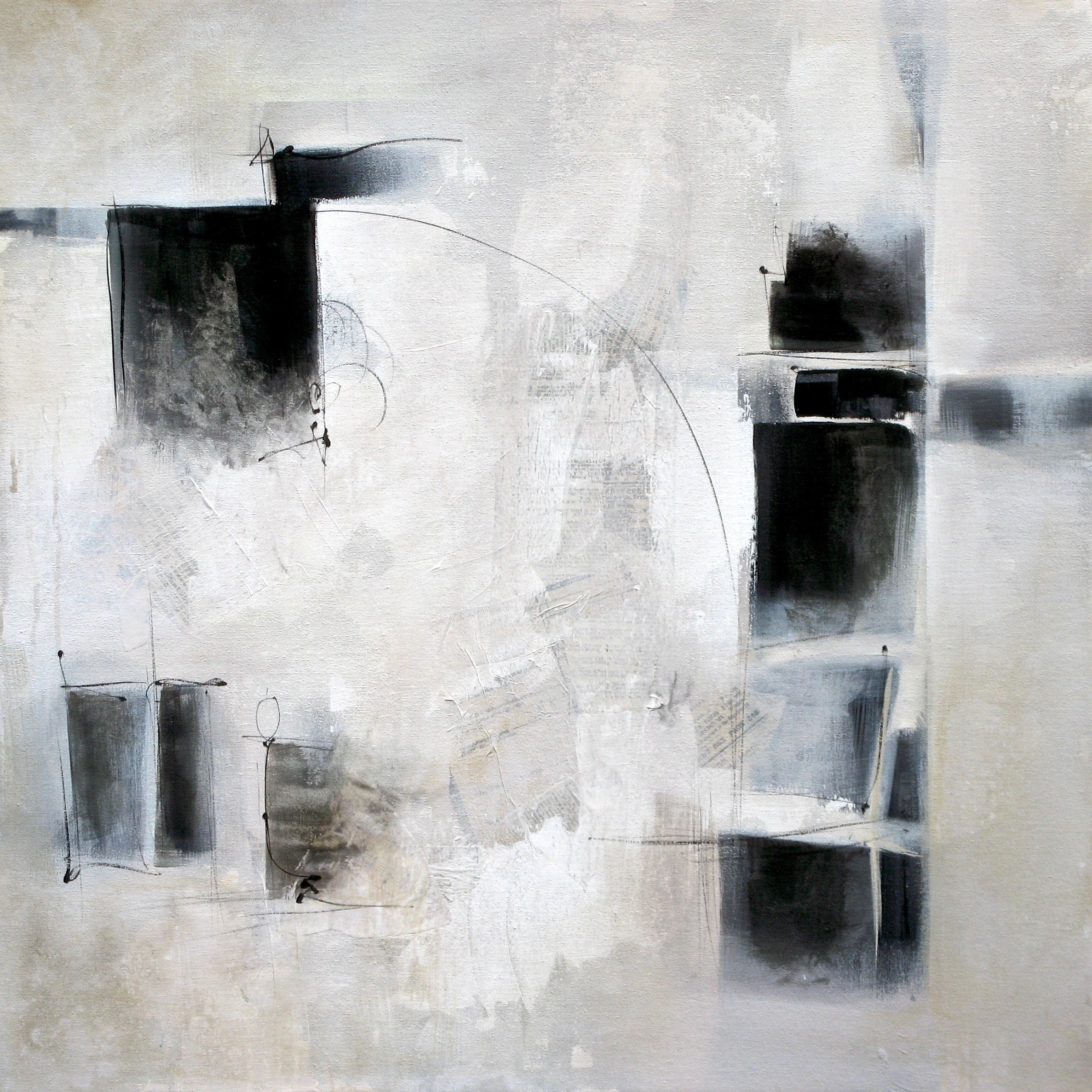 Black And White And In Between By Karen Hale Acrylic