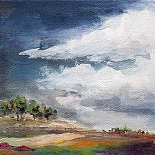 Passing Storm by Karen  Hale (Acrylic Painting)