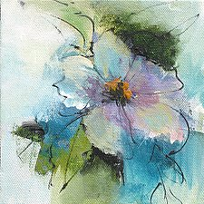 Floral 4 by Karen  Hale (Acrylic Painting)