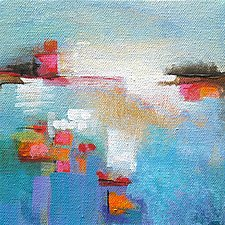 Dots and Dashes 3 by Karen  Hale (Acrylic Painting)