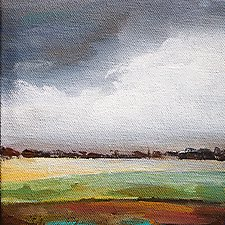 Stormy by Karen  Hale (Acrylic Painting)