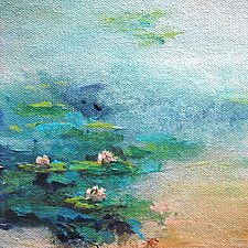 View of the Pond by Karen  Hale (Acrylic Painting)