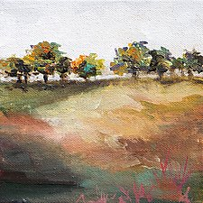 Trees in a Row by Karen  Hale (Acrylic Painting)