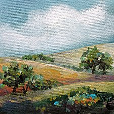 Out in the Country by Karen  Hale (Acrylic Painting)