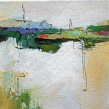 Green Line II by Karen  Hale (Acrylic Painting)